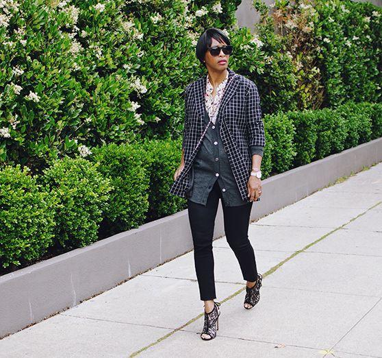 black skinny jeans dries van noten check jacket
