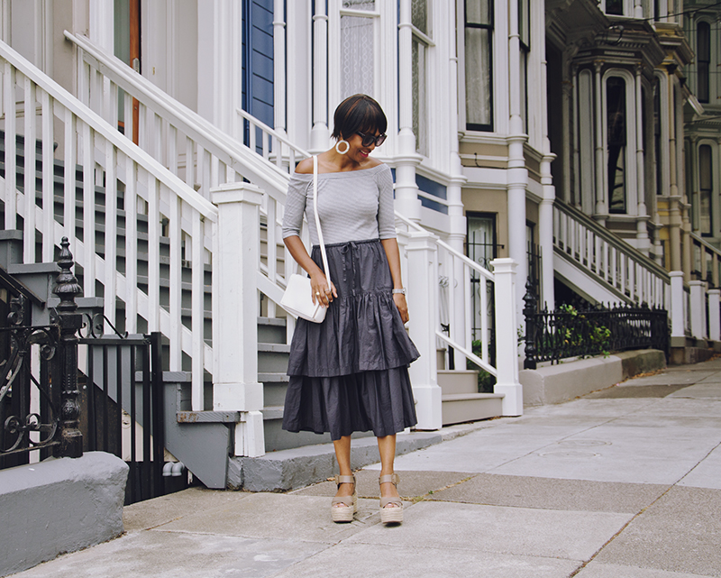 dress platform sandals white purse