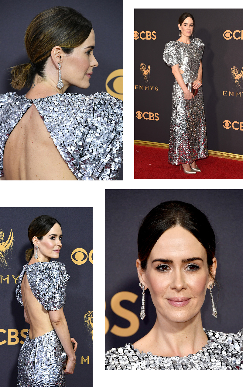sarah paulson different views emmy dress