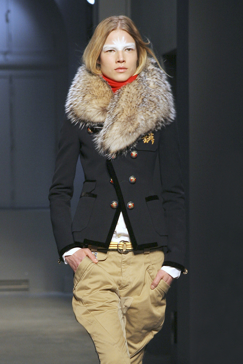 balenciaga fall 2007 blazer fur collar
