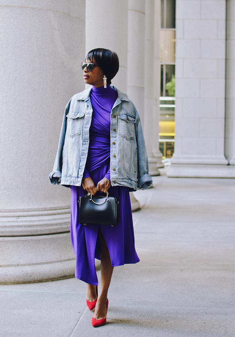 bold color dress ring handle bag
