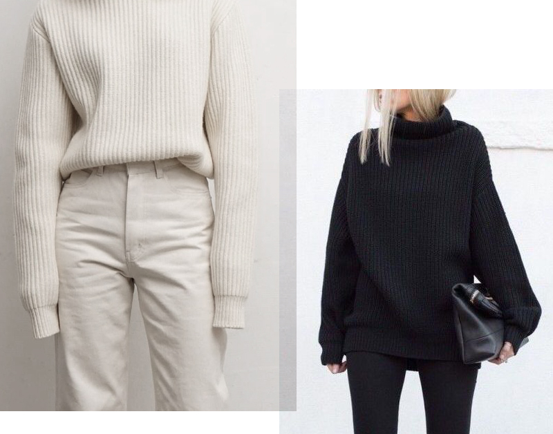 monochrome outfits all black all cream