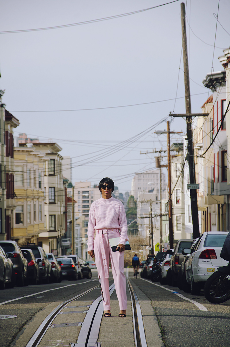nob hill san francisco head to toe pink look