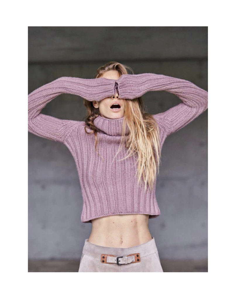 rose ribbed cropped sweater pastel trend 2018 editoral