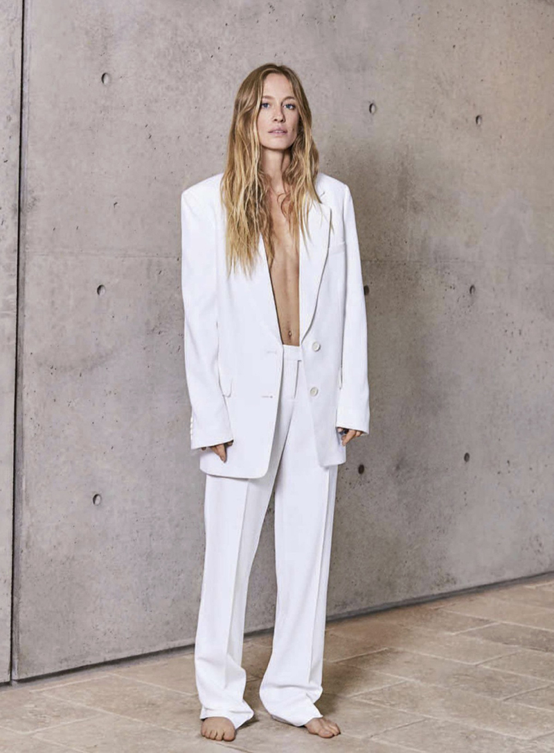 white oversized suit pastel trend 2018 editorial