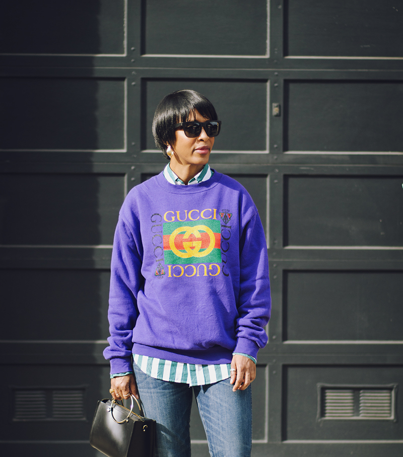 purple gucci sweatshirt afterlife boutique