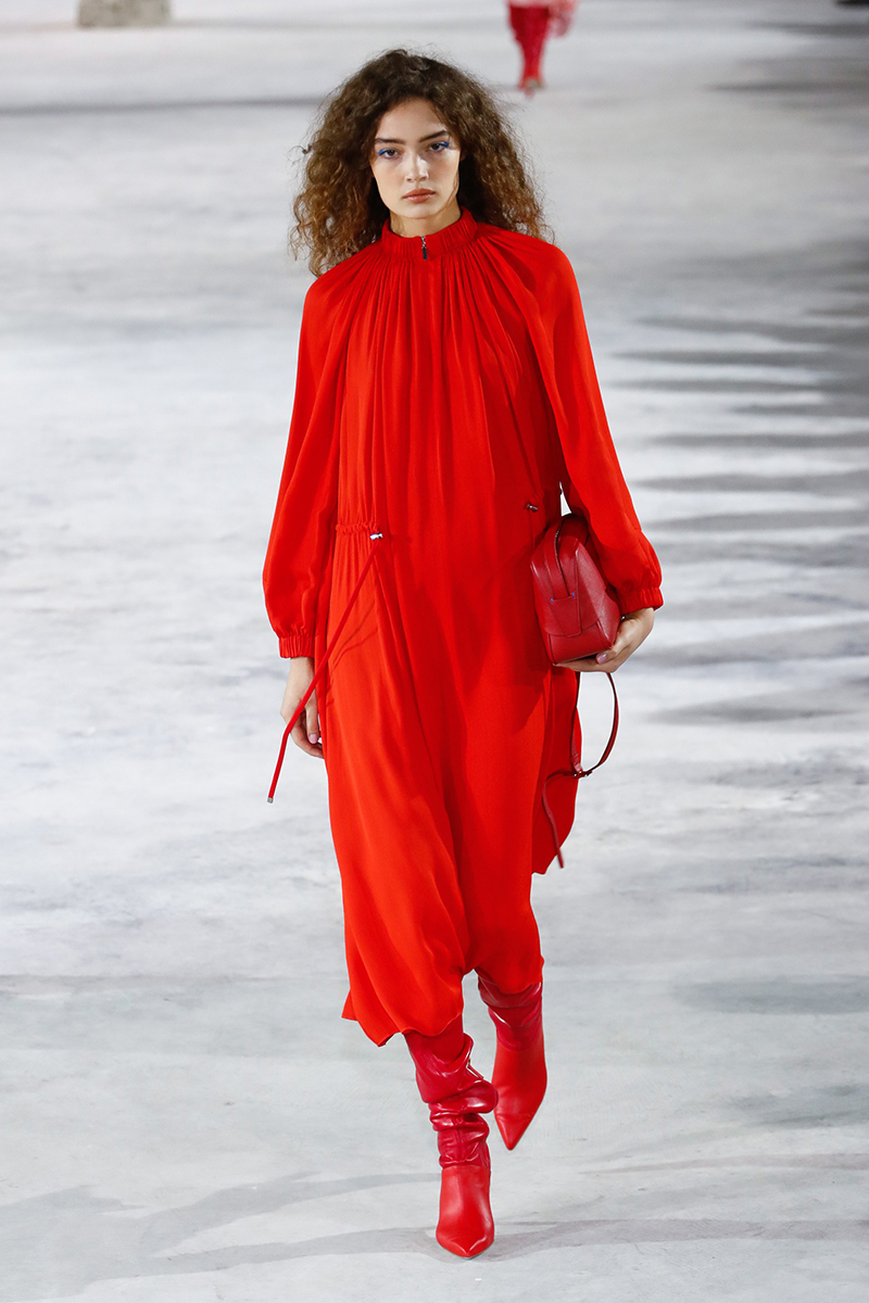 tibi fall 2018 head to toe red.