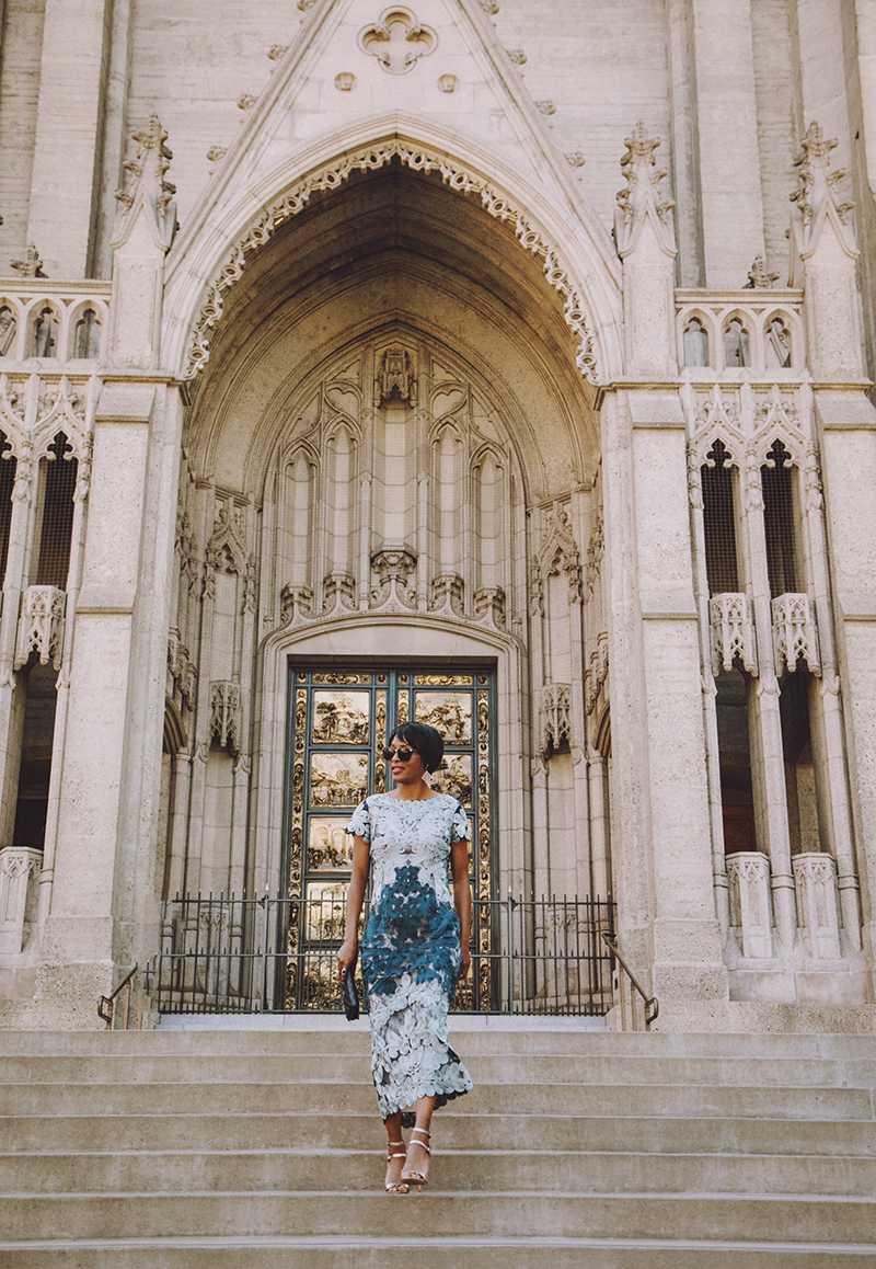 bhldn santiago blue lace dress grace cathedral san francisco