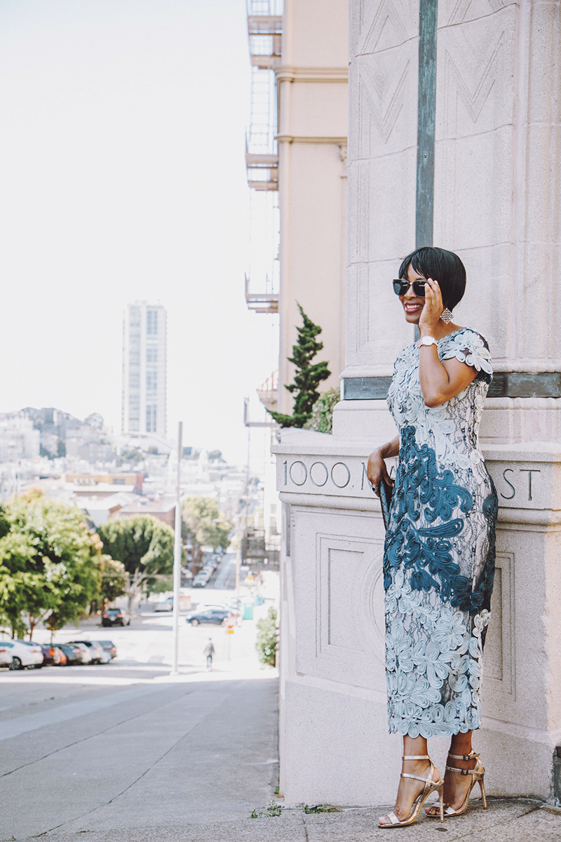 bhldn blue lace dress special occasion look