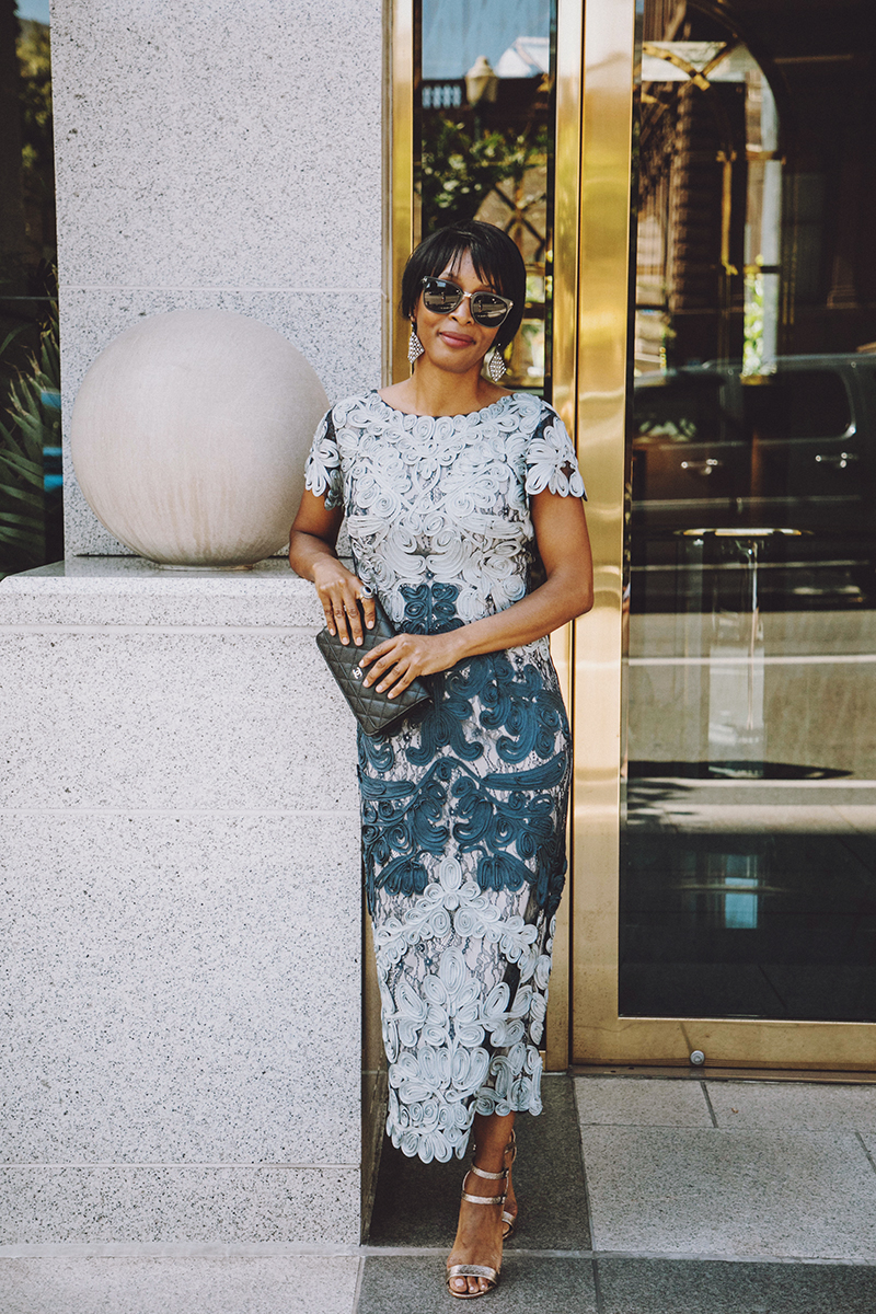 Bhldn Blue Lace Dress Special Occasion Wedding Guest J Adore Couture