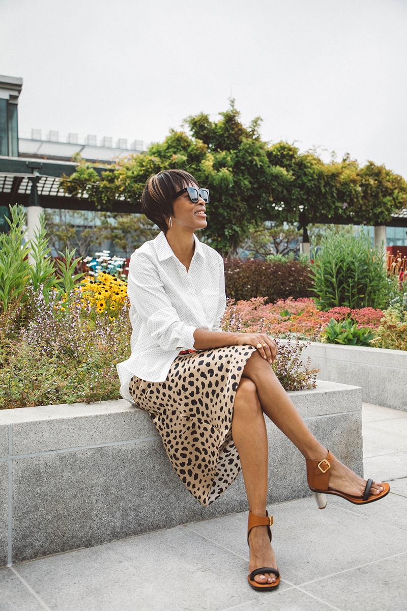 leopard print skirt celine bam bam sandals