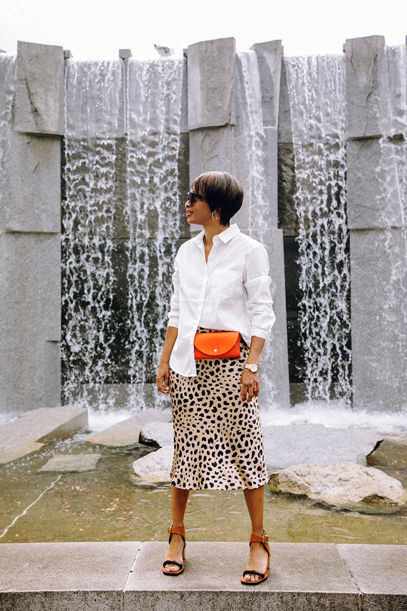relisation par silk leopard print skirt