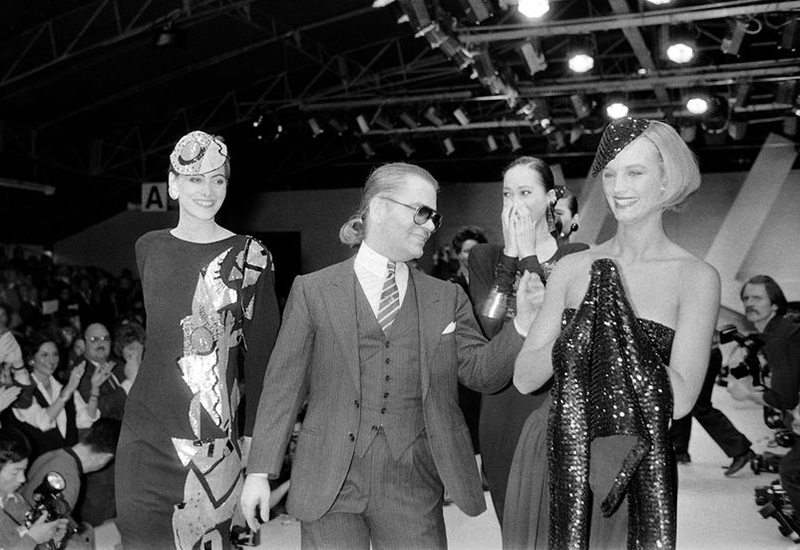 karl lagerfeld chanel runway show 1984