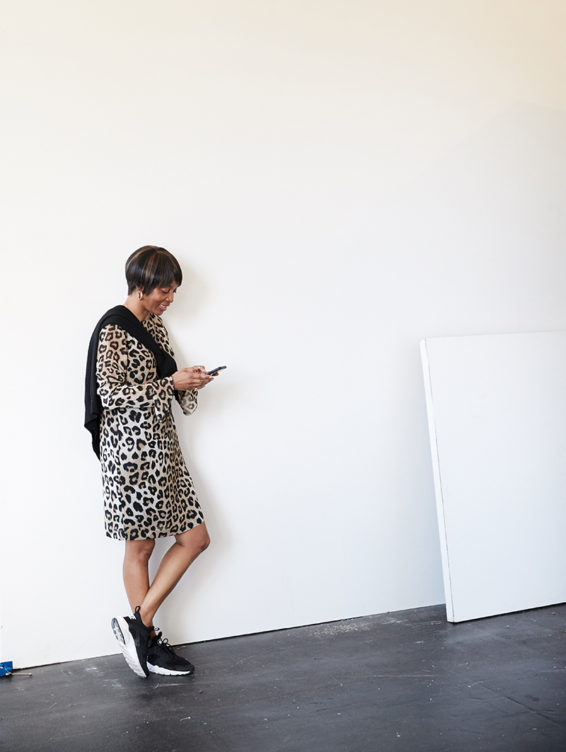 leopard dress black nike sneakers