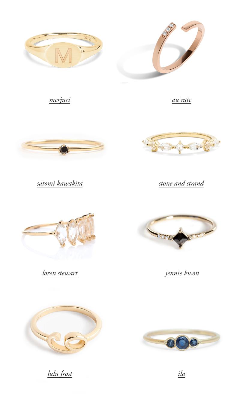 modern jewelry rings loren stewart mejuri jennie kwon