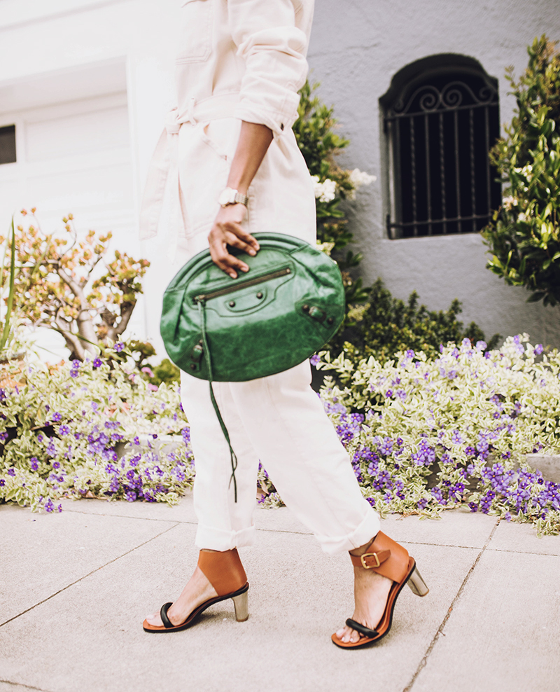 green balenciaga clutch celine bam bam sandals