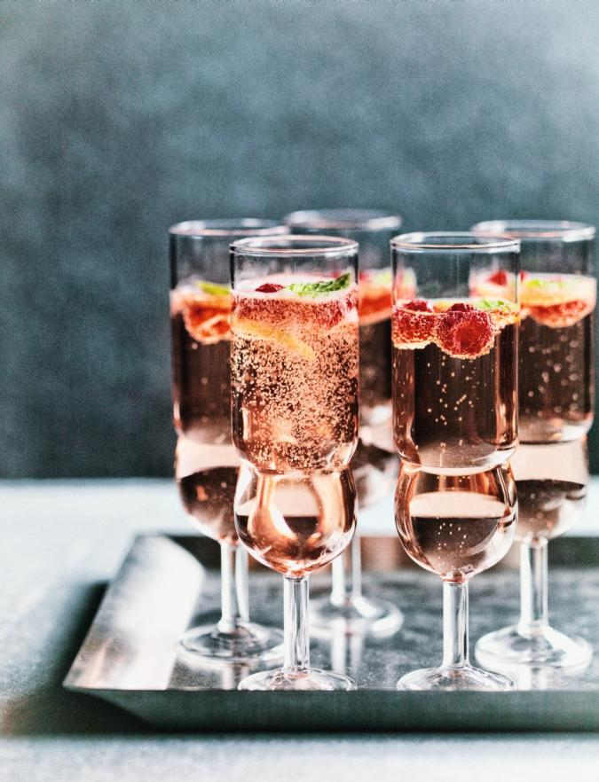rose raspberry fizz new year post