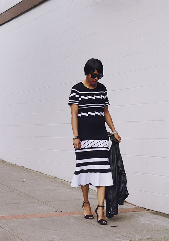 preen graphic knit dress