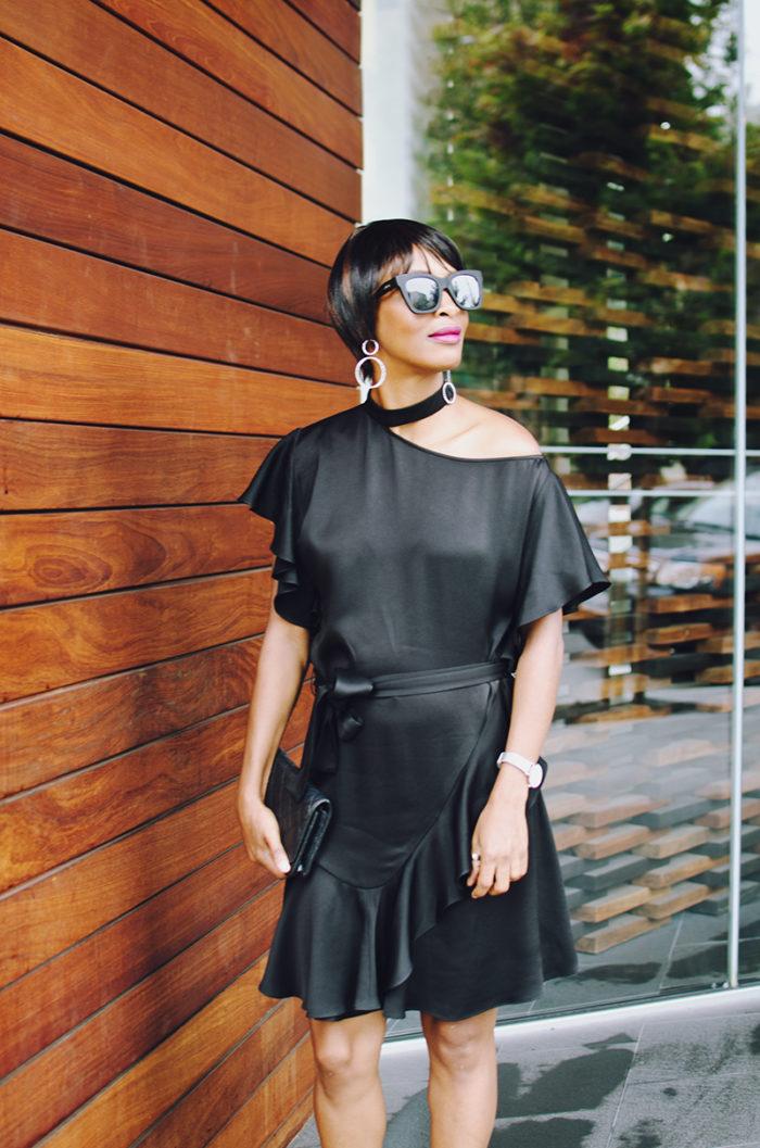crystal earrings black sunglasses chanel bag