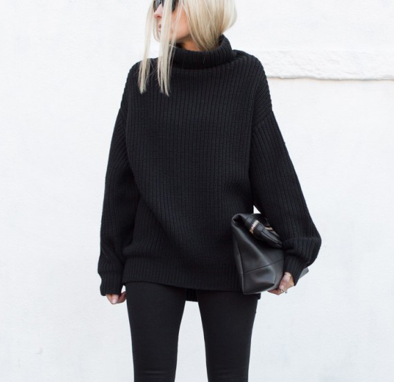 figtny monochrome look all black outfit
