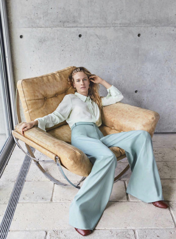 mint tonal outfit pastel trend 2018 editorial