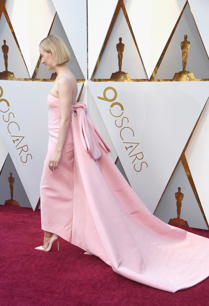 saoirse ronan calvin klein by appointment oscars pink 2018