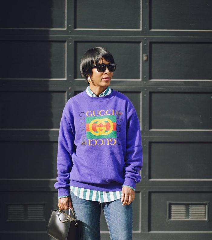 purple gucci sweatshirt afterlife boutique