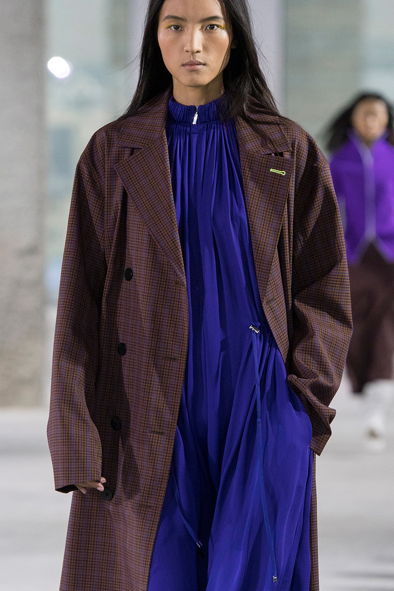 tibi fall 2018 oversized plaid coat