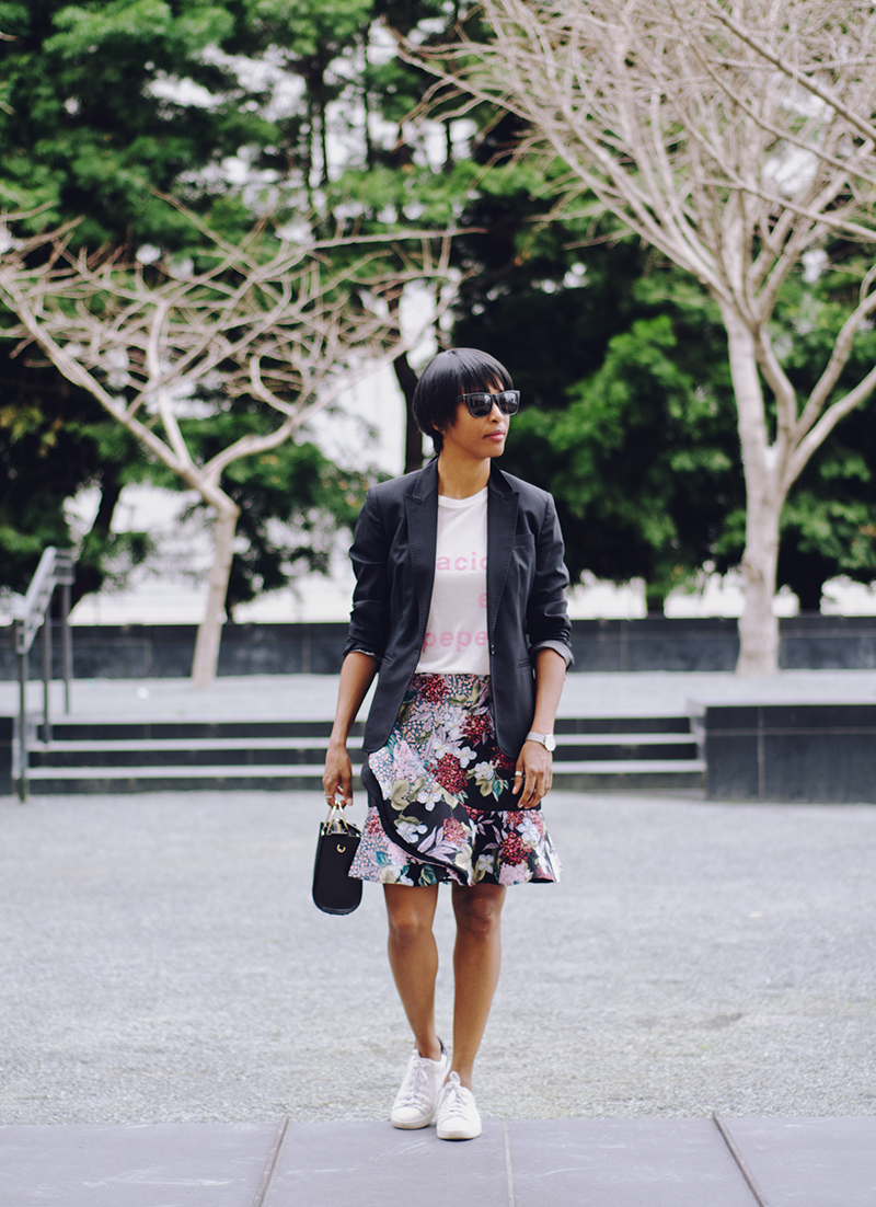 j'adore couture keepsake the label floral skirt