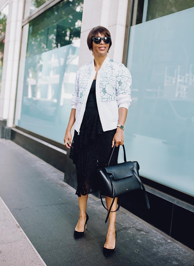 armoire bcbg white floral bomber jacket
