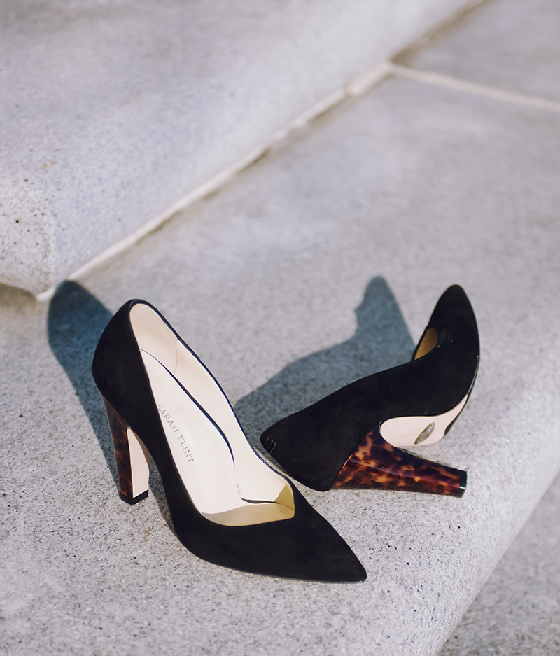 sarah flint perfect jay pump tortoise block heel