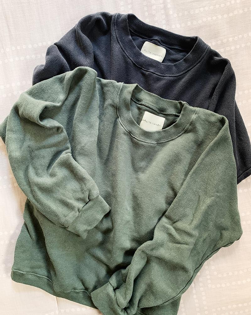 aliya wanek garment washed sweatshirt