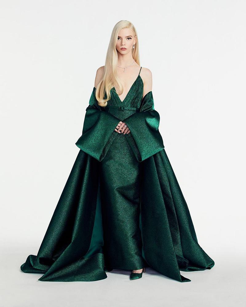 golden globes 2021 anya taylor-joy green dior couture
